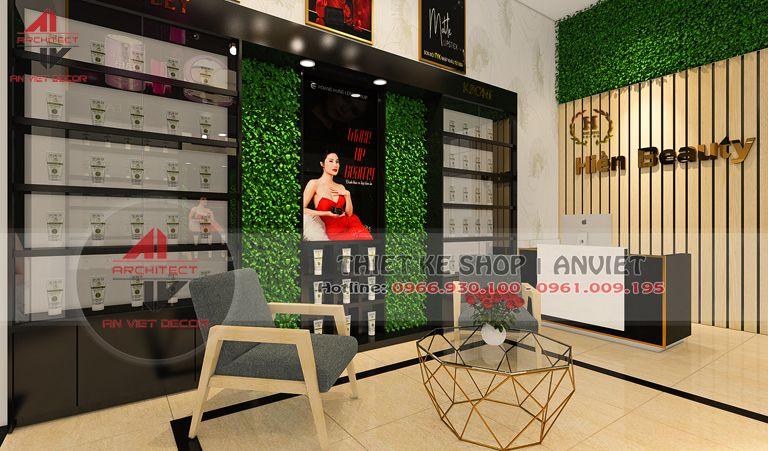 thiết kế shop mỹ phẩm tại Ba Vì