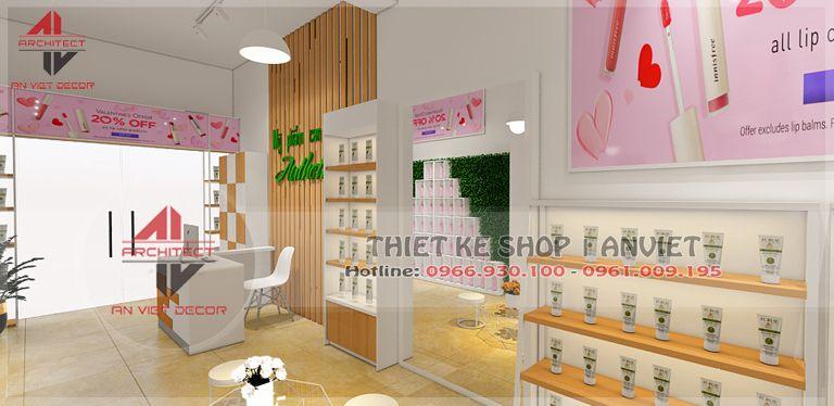 thiết kế shop mỹ phẩm tại châu quỳ