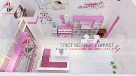 Thiết kế cửa hàng mỹ phẩm 25m2 CỰC SANG TRỌNG tại Hải Phòng