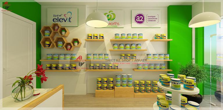 Thiết kế cửa hàng thực phẩm chức năng tại hoàng văn thái
