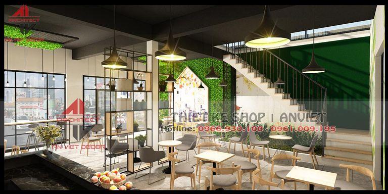 thiết kế cửa hàng cafe đẹp tại Ninh Bình