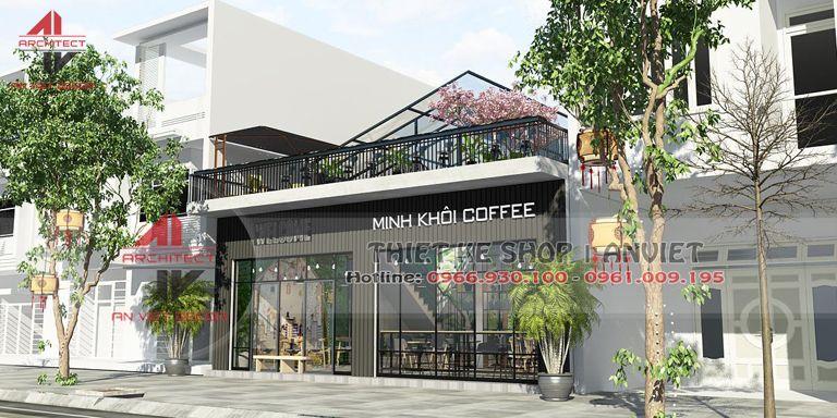 trang trí cửa hàng cafe đẹp tại Ninh Bình