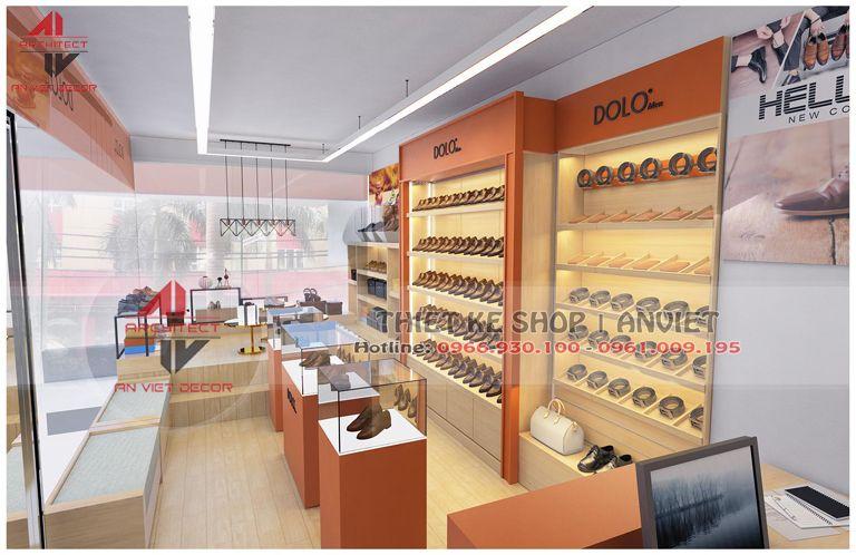 thiết kế shop giày công sở tại dịch vọng hậu