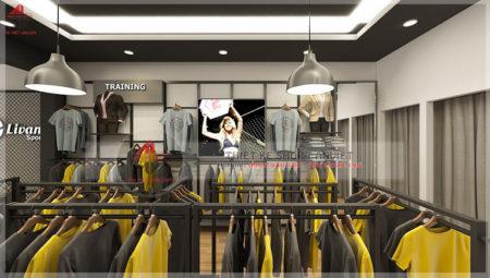 Thiết kế cửa hàng quần áo 50m2 tại Nguyễn Trãi