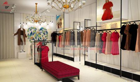Thiết kế shop thời trang Hoàng Phát 50m2 siêu ẤN TƯỢNG