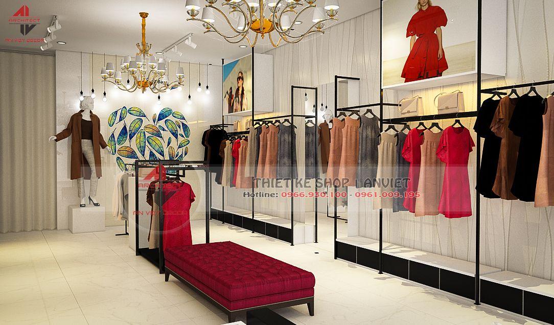 trang trí nội thất shop thời trang hoàng phát
