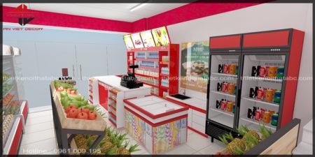 Thiết kế nội thất Siêu thị mini TMS Mart 40m2 tại Phúc Yên