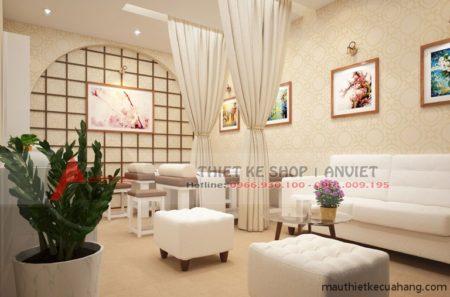 Thiết kế không gian SPA 40m2 cực ĐẸP tại Hà Nội
