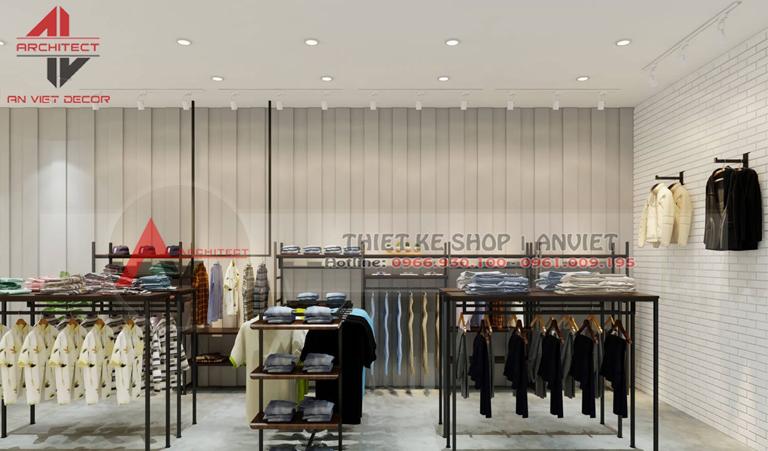 thiết kế trọn gói shop thời trang nam