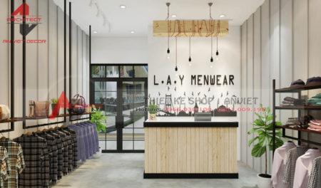 Thiết kế cửa hàng THỜI TRANG NAM 50m2 tại Thanh Xuân