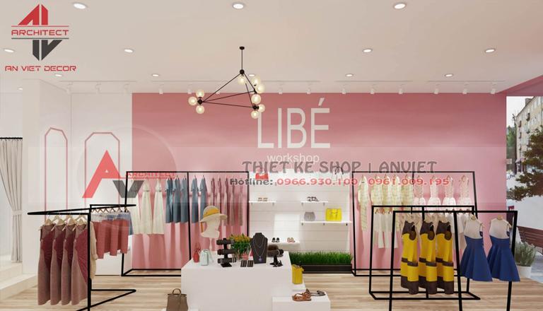 thi công trọn gói shop thời trang nữ