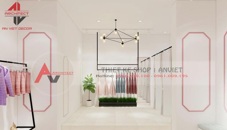 trang trí cửa hàng quần áo nữ