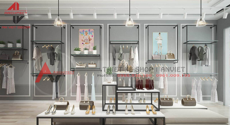 Thiết kế shop THỜI TRANG phong cách HIỆN ĐẠI tại Hà Nam