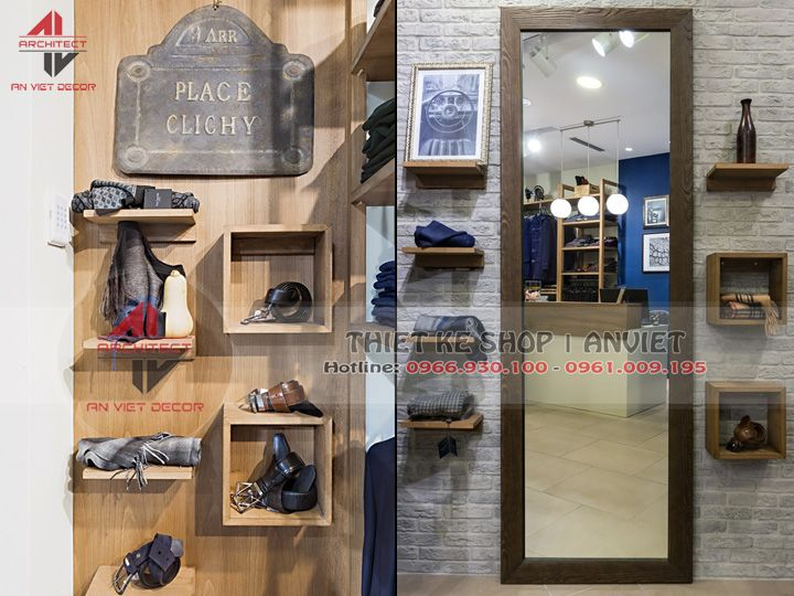 Thiết kế cửa hàng quần áo nam chuyên nghiệp