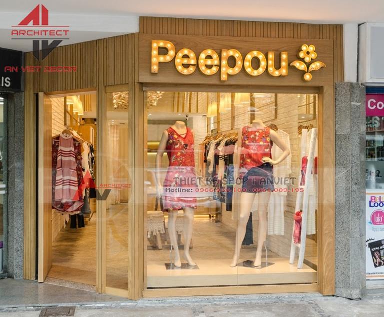 thiết kế cửa hàng thời trang hàng hiệu
