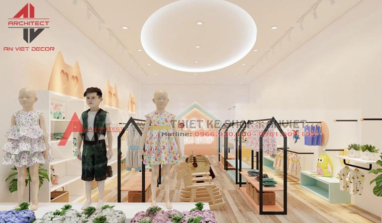 Thiết kế shop thời trang TRẺ EM cực DỄ THƯƠNG tại Hà Nội