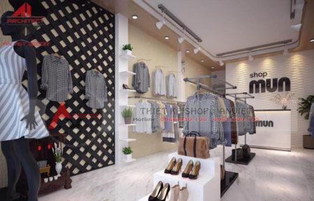 Thiết kế shop THỜI TRANG NỮ 30m2 tại Đông Anh – Hà Nội