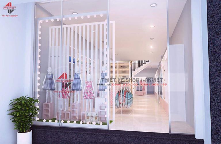 Thiết kế shop đồ dùng TRẺ EM cực XINH XẮN tại Phan Rang