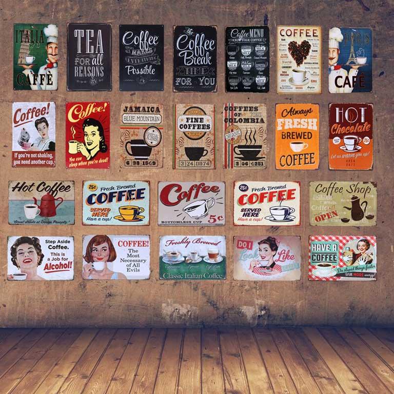Trang trí cửa hàng phong cách vintage