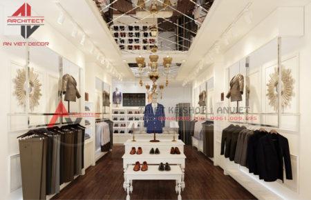 Thiết kế cửa hàng kinh doanh VEST NAM cực sang trọng tại Hà Nội