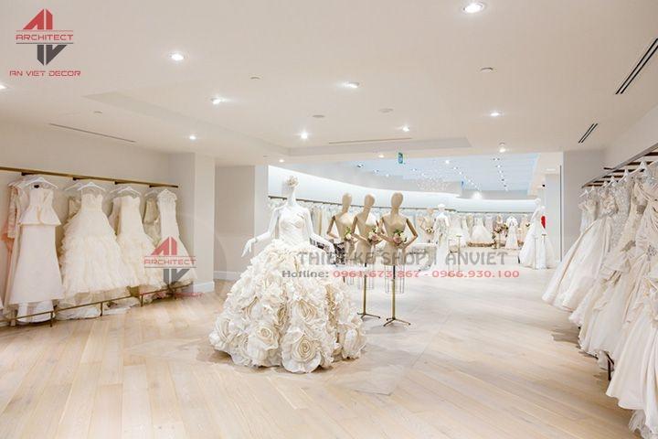 Mẫu thiết kế Showroom cửa hàng áo cưới ĐẸP LUNG LINH