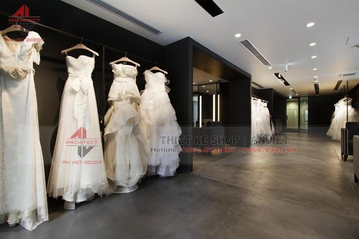 thiết kế nội thất showroom trưng bày váy cưới chuyên nghiệp