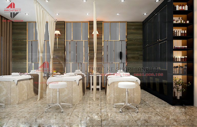 Mẫu thiết kế nội thất SPA nhỏ xinh 100m2 tại Hà Nội