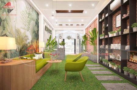 Mẫu thiết kế spa đẹp với không gian nội thất xanh 180m2