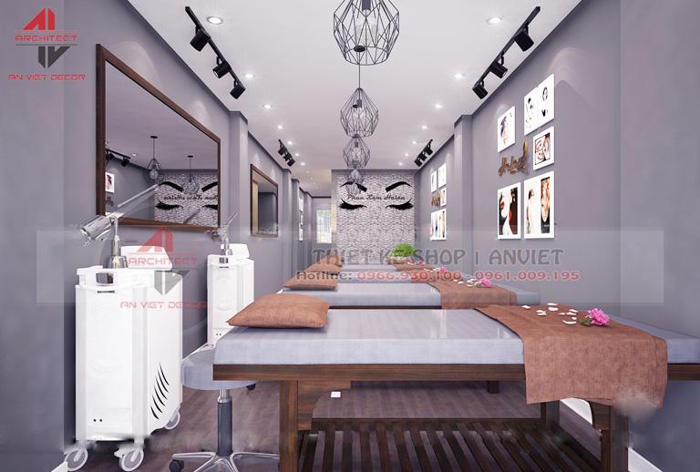 Thiết kế nội thất spa 2 tầng 80m2 tại Hà Nội