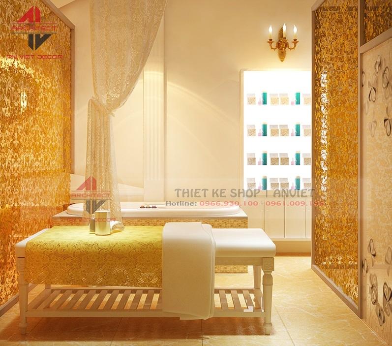 Thiết kế nội thất Huỳnh Như Beauty& Spa 80m2 hiện đại
