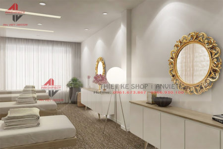 Thiết kế nội thất spa giá rẻ ĐẸP VÀ ĐỘC ĐÁO 80m2 ở Thanh Hóa