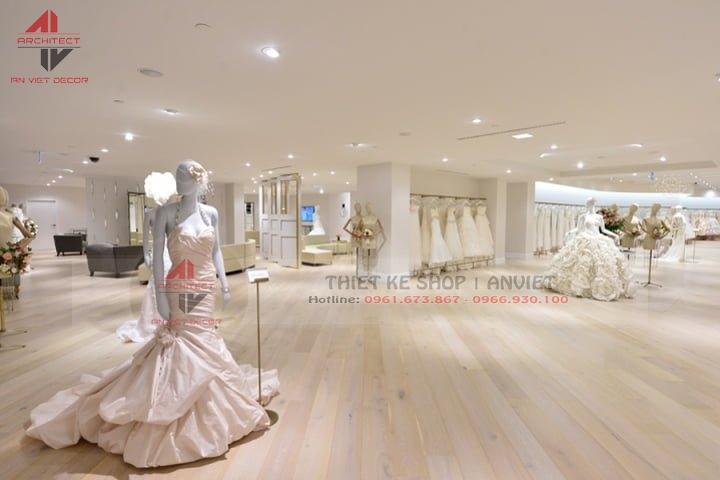 Thiết kế nội thất tiệm áo cưới hiện đại