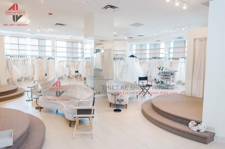 thiết kế cửa hàng áo cưới đẹp