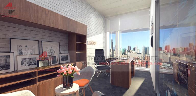 Mẫu thiết kế nội thất văn phòng chuyên nghiệp 60m2