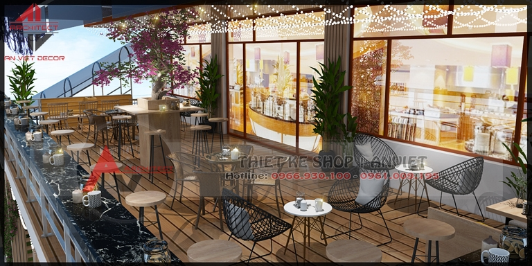 Thiết kế quán CAFE NGOÀI TRỜI độc đáo 70m ở Quảng Ninh