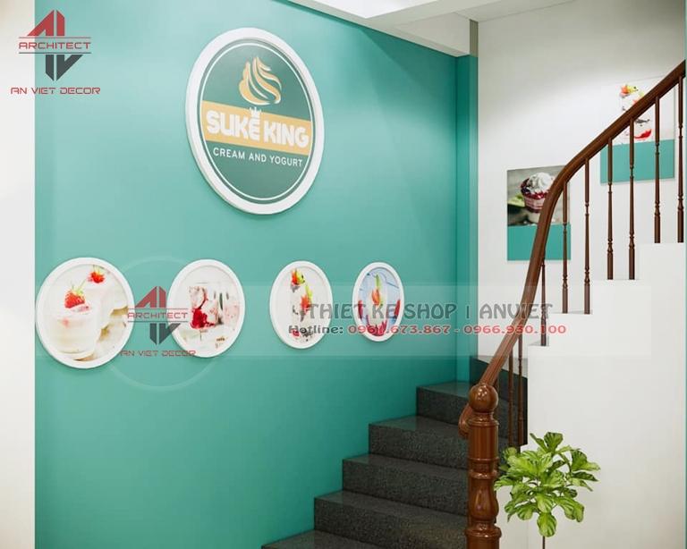 Thiết kế quán Sữa Chua Trân Châu 80m2 xu hướng KD mới