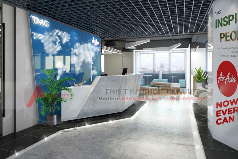Mẫu thiết kế nội thất văn phòng làm việc hiện đại 250m2 tại Hà Nội