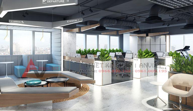 Mẫu thiết kế nội thất văn phòng làm việc hiện đại 250m2 tại Hà Nội - PHÒNG LÀM VIỆC