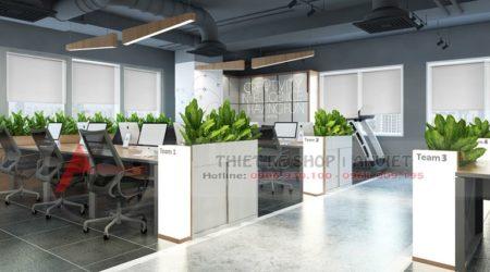 Mẫu thiết kế nội thất VP làm việc hiện đại 250m2 tại Hà Nội