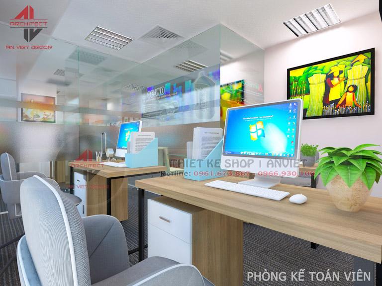 Mẫu thiết kế văn phòng chuyên nghiệp CTY Nam Đông Dương 120m2 -10