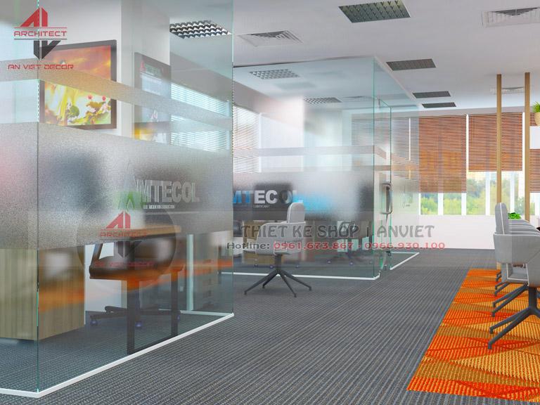 Mẫu thiết kế văn phòng chuyên nghiệp CTY Nam Đông Dương 120m2 -12
