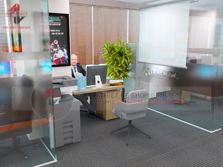 Mẫu thiết kế văn phòng chuyên nghiệp CTY Nam Đông Dương 120m2 -13