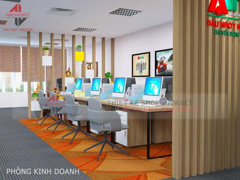 Mẫu thiết kế văn phòng chuyên nghiệp CTY Nam Đông Dương 120m2 -3