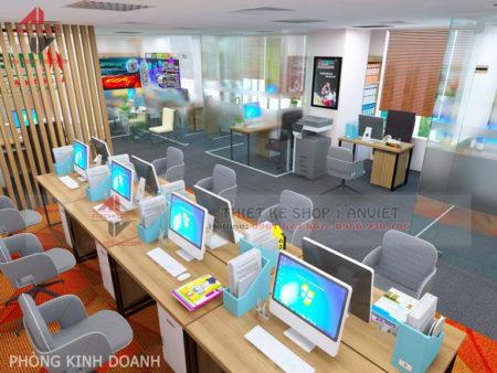 Mẫu thiết kế văn phòng chuyên nghiệp CTY Nam Đông Dương 120m2