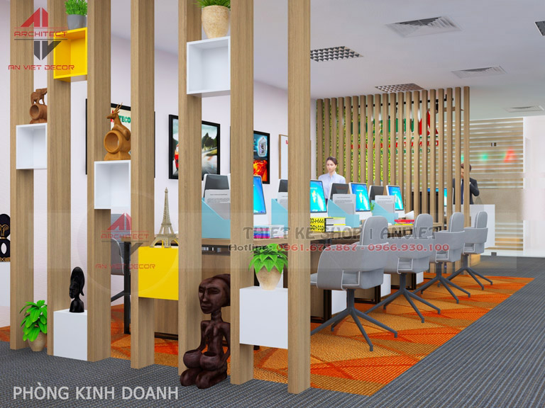 Mẫu thiết kế văn phòng chuyên nghiệp CTY Nam Đông Dương 120m2 -5