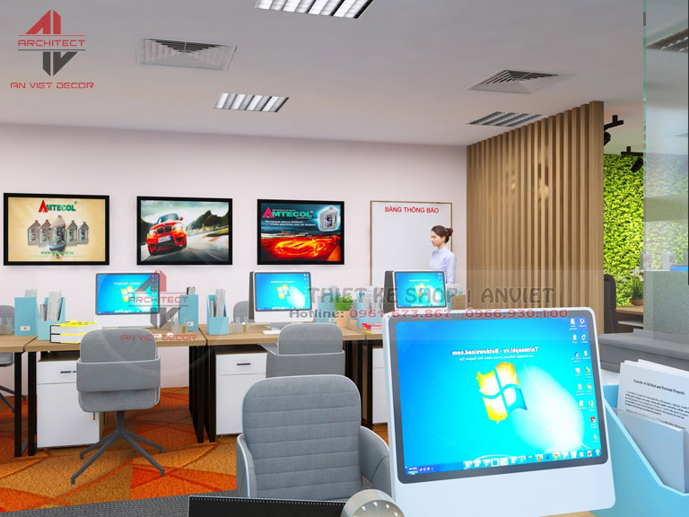 Mẫu thiết kế văn phòng chuyên nghiệp CTY Nam Đông Dương 120m2 -6