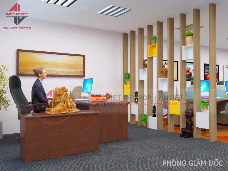 Mẫu thiết kế văn phòng chuyên nghiệp CTY Nam Đông Dương 120m2 -8