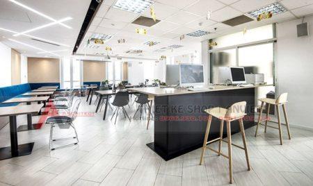 Trang trí nội thất văn phòng công ty đơn giản hiện đại 320m2