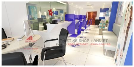 Thiết kế nội thất văn phòng làm việc MB Bank 80m2 tại Hà Nội