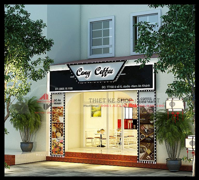 Thiết kế quán cafe 3 tầng hiện đại 180m2 tại Hà Nội 10
